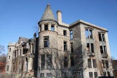 Die Schloss-Ruine Detroit, Michigan Stockfotos