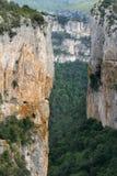 Die Schlucht in der Navarra Spanischregion Lizenzfreies Stockfoto