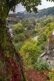 Die Schlucht des Smotrych-Flusses in Kamianets-Podilskyi Lizenzfreie Stockfotos