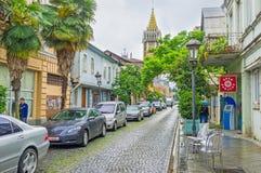 Die schmale Straße von Batumi Lizenzfreies Stockbild