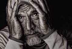 Die Schmerz der Sorge Stockbild