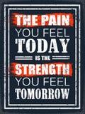 Die Schmerz, die Sie sich heute fühlen stock abbildung