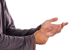 Die Schmerz von Arthritis stockfotos