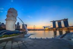 Die Schneckenbrücke, Singapur Lizenzfreie Stockbilder