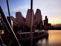 Die Schneckenbrücke, Singapur Lizenzfreies Stockbild