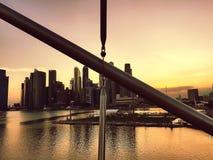 Die Schneckenbrücke, Singapur Stockfotografie