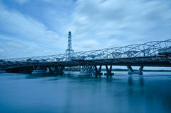 Die Schneckenbrücke und das Singapur-Flugblatt Lizenzfreies Stockfoto