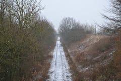 Die Schnee-Schiene stockbilder