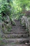 Die Schritte im Berg Stockfotos