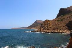 Die schroffe Küste von Kappe Bon lizenzfreie stockbilder