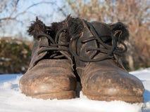 Die Schuhe der alten Frau Lizenzfreies Stockfoto
