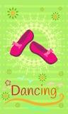 Die Schuhe der Frauen für das Tanzen Lizenzfreie Stockfotografie