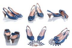 Die Schuhe der Frauen von den verschiedenen Seiten Stockfoto
