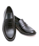 Die Schuhe der ledernen Männer Stockbild