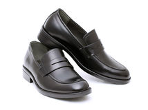 Die Schuhe der ledernen Männer Stockfoto