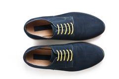 Die Schuhe der Veloursledermänner Lizenzfreie Stockfotografie