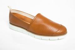 Die Schuhe lederner Männer Browns Stockfotografie