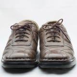 Die Schuhe sind alt Stockbild