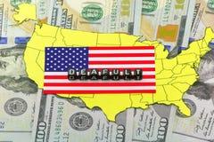 Die Schulden der USA zur Welt Lizenzfreie Stockbilder