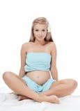 Die schwangere Frau lizenzfreie stockfotos