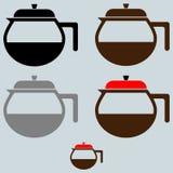 Die schwarze Kaffeemaschine oder der Behälter vektor abbildung