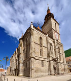 Die schwarze Kirche in Brasov stockfotos