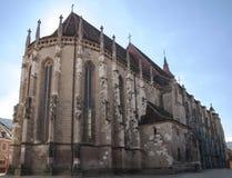 Die schwarze Kirche in Brasov, Rumänien Stockbilder