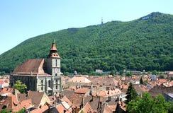 Die schwarze Kirche von Brasov - Rumänien Stockfotos