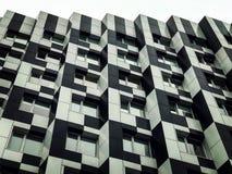 Die schwarze u. weiße Architektur von im Stadtzentrum gelegenem Kyiv stockfoto