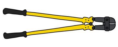 Die schwarzen und gelben großen Teiler Stockfotos