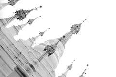 Die Schwarzweiss-Version des Volkstums des Raumes, China Lizenzfreies Stockfoto