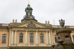 Die schwedische Akademie wurde im Jahre 1786 gegründet, um schwedischen Liter voranzubringen Lizenzfreie Stockfotos