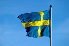 Die schwedische Flagge Lizenzfreies Stockbild