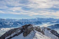 Die Schweiz-Alpen Lizenzfreies Stockbild