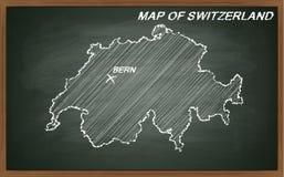 Die Schweiz auf Tafel Lizenzfreie Stockfotografie