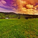 Die Schweiz bei Sonnenuntergang Lizenzfreies Stockbild