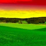 Die Schweiz bei Sonnenuntergang Lizenzfreie Stockbilder