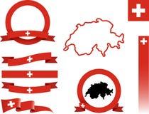 Die Schweiz-Fahnensatz Lizenzfreie Stockbilder
