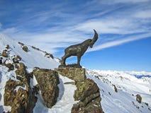 Die Schweiz-Gebirgsspitzen-Steinbock-Symbol Lizenzfreies Stockfoto