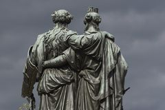 Die Schweiz Genf das Nationaldenkmal Lizenzfreies Stockfoto