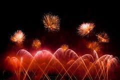 Die Schweiz-- Genf-Feuerwerke Lizenzfreie Stockfotografie