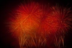 Die Schweiz-- Genf-Feuerwerke Lizenzfreie Stockfotos