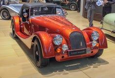 Die Schweiz; Genf; Am 9. M?rz 2019; Morgan Classic Roadster; Die 89. Internationale Automobilausstellung in Genf von 7. bis 17. v lizenzfreie stockfotos