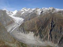 Die Schweiz-Gletscher stockfotografie