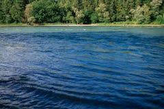 Die Schweiz-Landschaft durch den Fluss Stockbilder