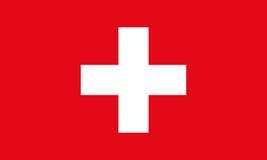 Die Schweiz-Markierungsfahne Die Schweiz-Flaggenvektorhintergrund Lizenzfreie Stockfotos