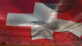 Die Schweiz-Markierungsfahne vektor abbildung