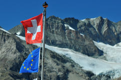Die Schweiz und Europa Lizenzfreie Stockfotografie