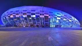Die Schwimmen- und Tauchhalle im Guangxi-Sportzentrum Stockfotos