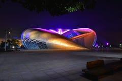 Die Schwimmen- und Tauchhalle im Guangxi-Sportzentrum Lizenzfreies Stockbild